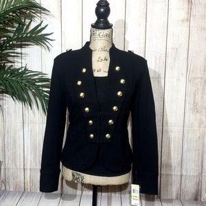 NWT Black Military Jacket w/Gold Buttons